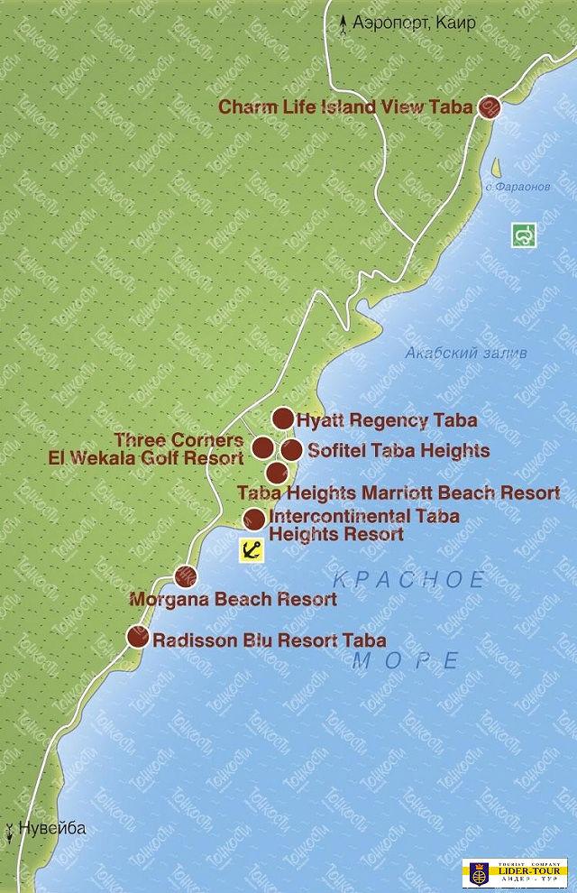 Карта Отелей Шарм Ель Шейха